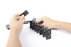 Line up dominos Royalty Free Stock Photo
