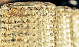 Line up för Crystal exponeringsglas som bildar den härliga modellen Arkivfoton