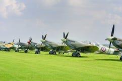 Line up of historic World War 2 spitfires Stock Images