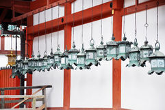 Line-up of lanterns Stock Photos