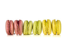 Line up macarons Royalty Free Stock Photography