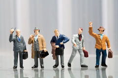 Line-up of office workers Royalty Free Stock Photos