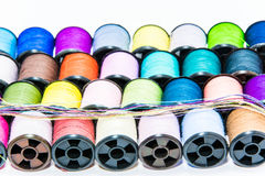 Line up threads Stock Image