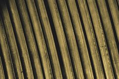 Line up yellow metal slat Stock Images