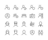 Line Users Icons vector illustration