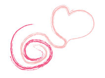 Line of Valentine Heart Vector Royalty Free Stock Photo