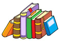 Line of various books Royalty Free Stock Image