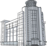 Line_vector αρχιτεκτονικής οικοδόμησης σύγχρονο Στοκ εικόνα με δικαίωμα ελεύθερης χρήσης