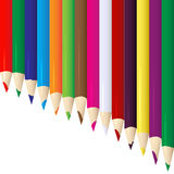 Line of vector colored pencils Royalty Free Stock Image