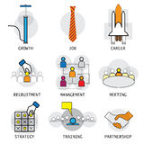 Line vector design of office people career selection management Royalty Free Stock Photography