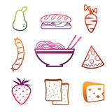 Line vector icons. Line icon and logo in vector format. food Royalty Free Stock Photography