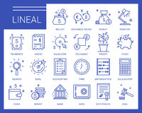 Line vector icons in a modern style. Royalty Free Stock Photography