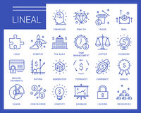 Line vector icons in a modern style. Royalty Free Stock Image
