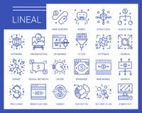 Line vector icons in a modern style. Royalty Free Stock Images