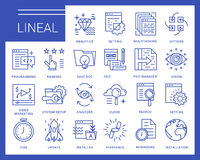 Line vector icons in a modern style. Royalty Free Stock Photos
