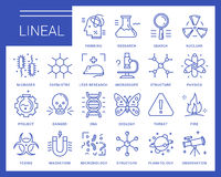 Line vector icons in a modern style. Stock Images