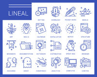 Line vector icons in a modern style. Royalty Free Stock Photo