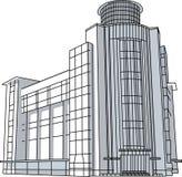 Line_vector moderno de construção da arquitetura Imagem de Stock Royalty Free