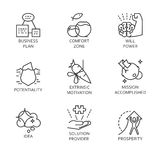 Line vector set icons symbol business process and conducting vector illustration