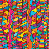 Line vertical drawing style seamless pattern Stock Photos