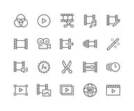 Line Video Editing Icons. Simple Set of Video Editing Related Vector Line Icons. Contains such Icons as Filters, Frame Rate and more. Editable Stroke. 48x48 stock illustration