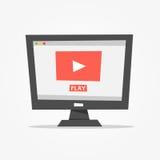 On-line-Video-Player-Vektorillustration Lizenzfreie Stockfotografie