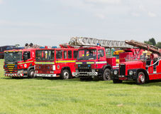 Line of vintage fire engines Stock Photography