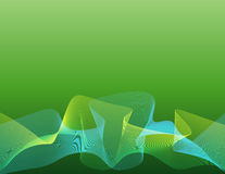 Line-wave_strings_green Royalty Free Stock Images