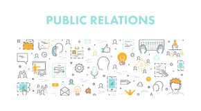 Line web concept for public relations Royalty Free Stock Image