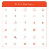 Line web icons set. 30 line web icons setnn Stock Image