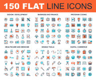 Line Web Icons Royalty Free Stock Images