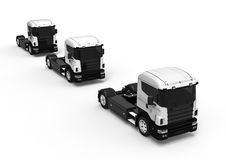 A line of White Trucks Royalty Free Stock Photo