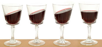 Line of wineglasses Royalty Free Stock Images