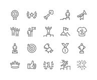 Line Winning Icons Stock Photos
