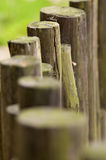Line of wooden beams Stock Image