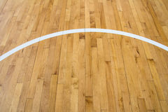 Line on wooden floor Royalty Free Stock Photo