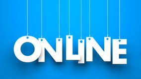 ON LINE Stock Images