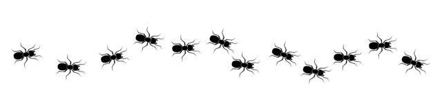 Line of worker ants marching in search of food – vector vector illustration