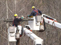 Line Workers Royalty Free Stock Photo