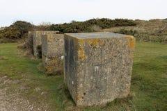 World War Two beach tank traps Royalty Free Stock Photography