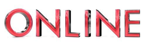 On-line--Wort 3d Stockfotos