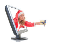 On line Xmas shopping Royalty Free Stock Photos