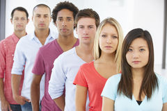 Line Of Young Business People In Casual Dress Stock Photography