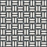 Line zigzag chequer seamless abstract pattern monochrome or two Stock Images