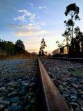Linea abbandonata del treno immagine stock libera da diritti