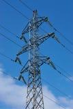 Linea ad alta tensione palo del pilone di elettricità di potere Immagine Stock Libera da Diritti