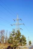 Linea ad alta tensione pilone di corrente elettrica della trasmissione Fotografia Stock Libera da Diritti