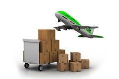 Linea aerea e luggageâs illustrazione di stock