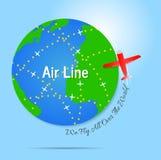Linea aerea Illustrazione di vettore Fotografia Stock
