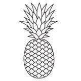 Linea ananas dell'icona Immagine Stock Libera da Diritti